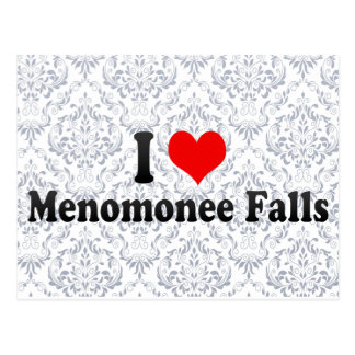 I Love Menomonee Falls, United States Postcard