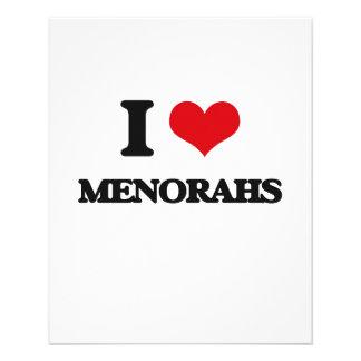 I Love Menorahs 11.5 Cm X 14 Cm Flyer