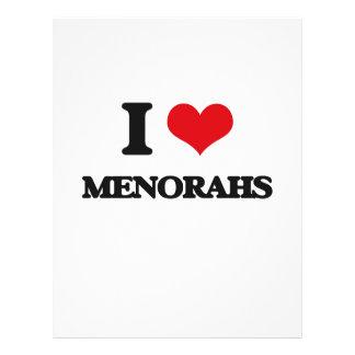 I Love Menorahs 21.5 Cm X 28 Cm Flyer