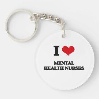 I love Mental Health Nurses Keychain