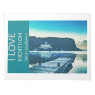 """""""I Love Menthon Saint Bernard""""(11""""x8.5"""") Notepad"""