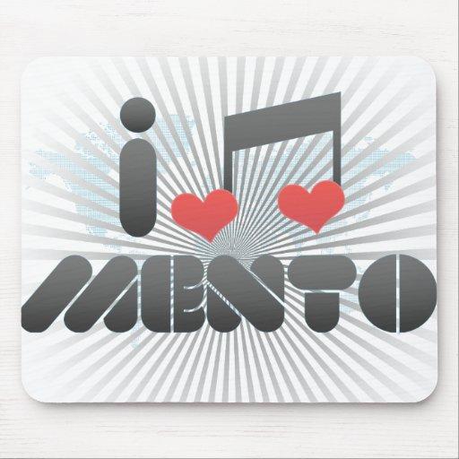 I Love Mento Mousepads