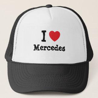 I love Mercedes heart T-Shirt Trucker Hat