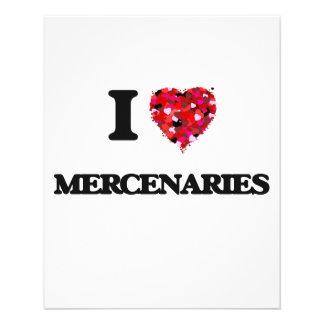 I love Mercenaries 11.5 Cm X 14 Cm Flyer