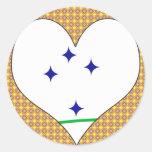 I Love Mercosur Round Stickers