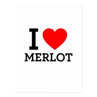 I Love Merlot Postcard