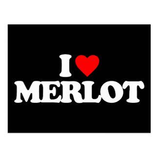 I LOVE MERLOT POSTCARDS