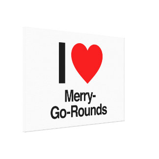 i love merry-go-rounds gallery wrapped canvas