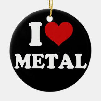 I Love Metal Christmas Ornament