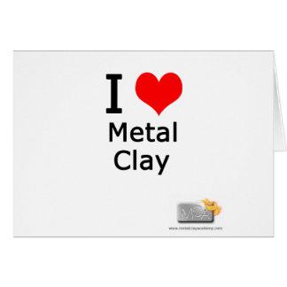 I love metal clay card