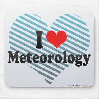 I Love Meteorology Mouse Mat