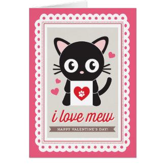 I love Mew by Origami Prints Valentine Folded Card