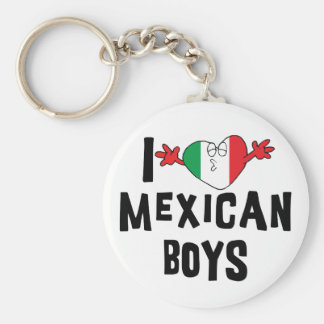 I Love Mexican Boys Key Ring