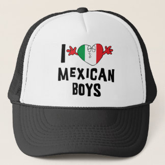 I Love Mexican Boys Woman's Trucker Hat