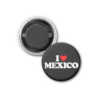 I LOVE MEXICO 3 CM ROUND MAGNET