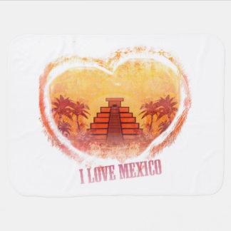 I Love Mexico Baby Blanket