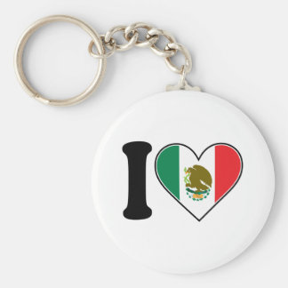 I Love Mexico Basic Round Button Key Ring