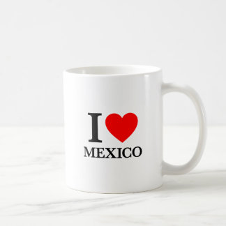 I Love Mexico Basic White Mug