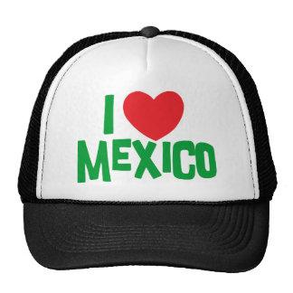 I Love Mexico Hats