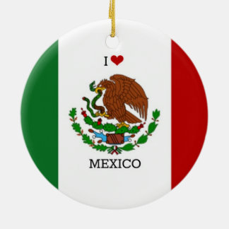i love mexico - mexican flag christmas ornament