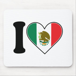 I Love Mexico Mouse Mats