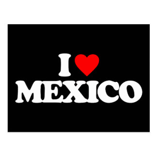 I LOVE MEXICO POST CARDS