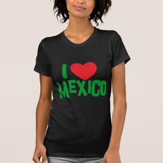 I Love Mexico Woman s Dark T-Shirt Tees