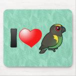 I Love Meyer's Parrots Mouse Pad