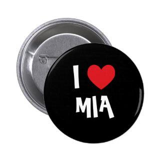 I Love Mia 6 Cm Round Badge