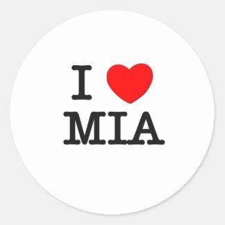 I Love Mia Classic Round Sticker