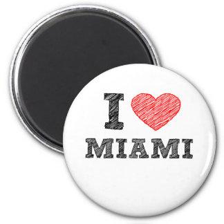 I Love Miami 6 Cm Round Magnet