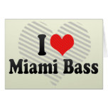 I Love Miami Bass Greeting Cards