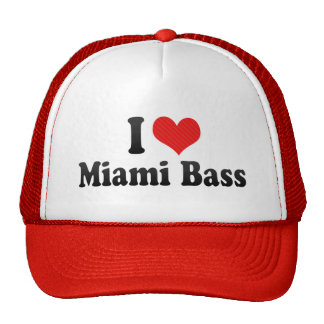 I Love Miami Bass Trucker Hats