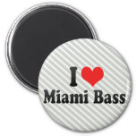 I Love Miami Bass Magnets