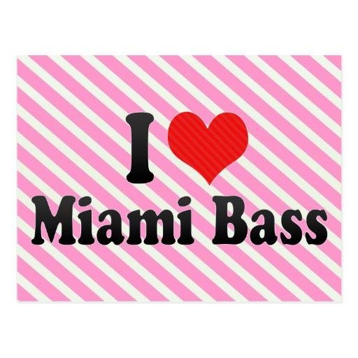 I Love Miami Bass Postcard