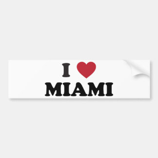 I Love Miami Florida Bumper Sticker