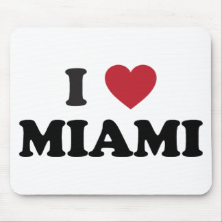 I Love Miami Florida Mouse Mat