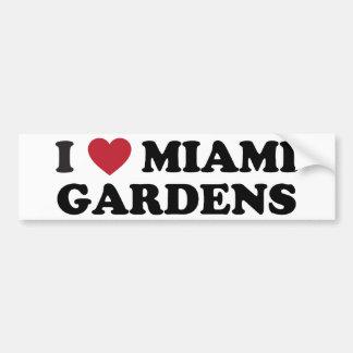 I Love Miami Gardens Florida Bumper Sticker
