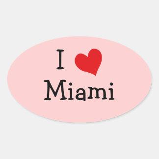 I Love Miami Oval Sticker