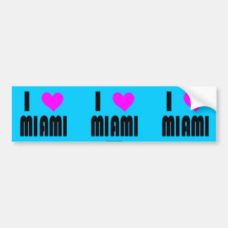 I Love Miami USA bumper sticker