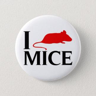 I Love Mice 6 Cm Round Badge