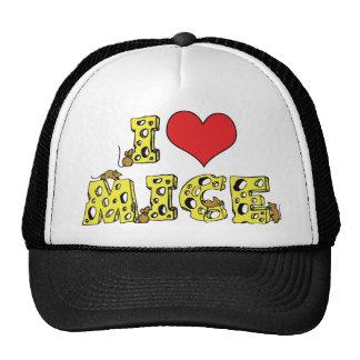 I Love Mice Mesh Hats