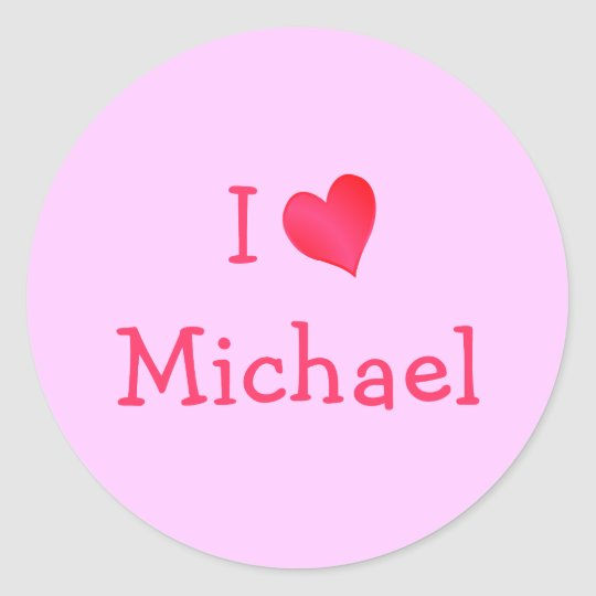 I Love Michael Sticker