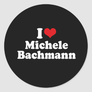 I LOVE MICHELE BACHMANN (white) Sticker