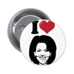 I Love Michelle Obama Pin