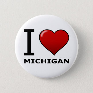 I LOVE MICHIGAN 6 CM ROUND BADGE