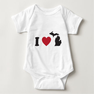 I Love Michigan Baby Bodysuit