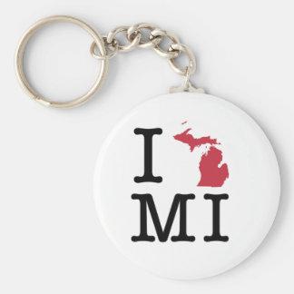I Love Michigan Key Ring