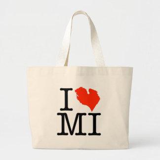 I Love Michigan! Large Tote Bag