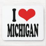 I Love Michigan Mousepads